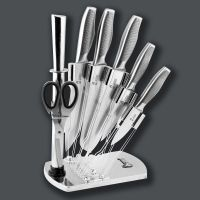 New design stainless steel knife set with block