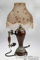 antique polyresin telephone table lamp (TH-3008)