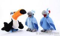 11 Rio big adventure plush toy doll's gift blue parrot blu