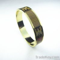 Enameled print bangle