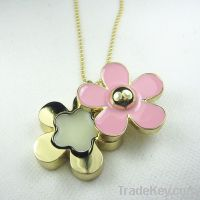 Solid perfume Container Daisy pendant