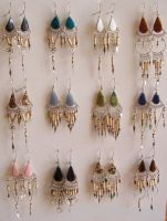 STONE BAMBOO EARRINGS