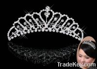 Charming women Wedding Bridal Rhinestone Crystal Hair Comb Tiara 13cm