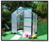 DIY Hobby Garden Greenhouses kit in Aluminum frame, galvanized base an