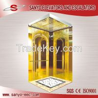machine roomless elevatpr MRL Luxurious Hotel Elevator