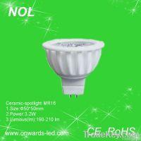 Ceramic-spotlight with MR16