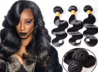 wholesale black color brazilian virgin remy hair false hair,human hair body wave hair curtain 100g