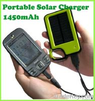 Portable Solar Charger Power Bank (1450mAh)