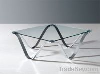 glass metal coffee table