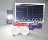20W portable home use solar lighting system