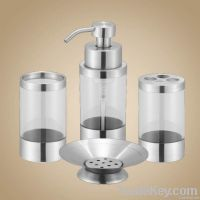 acrylic bathroom set (foam dispenser)