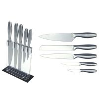 Kitchen Knife Set, Stainless Steel, with Hollow Handle, Acrylic Block