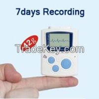 Smartest 12-Lead/3-Channel Holter ECG with LCD Recording up to 7days