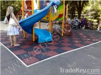 EPOS Rubber floor tiles - Solid Black