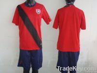 11-12 American away red soccer uniform, soccer jersey