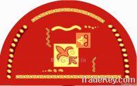 Red Semicircular Mat