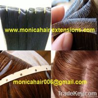 skin weft / adhesive hair extensions