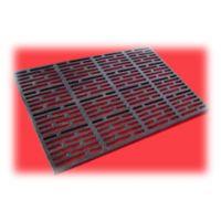 plastic floor and cast iron floor