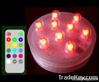 Remote Submersible LED Light---9 LED Multicolor