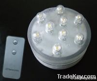 Remote Submersible LED Light---9 LED White