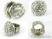 Printed silver ring, Environmental protection, Handmade