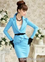 2012 the most popular fashion high temperament blue dress