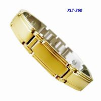 New fashion Magnetic crystal titanium/stainless steel bracelet
