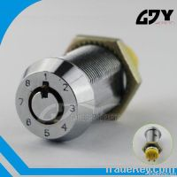 Code Changeable Cam Lock eight Variable round Plug Switch Key Lock