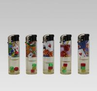 disposable/refillable electronic lighter with dices inside
