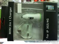 iPhone/iPod 3in1 charger kit(UK Standard)