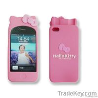 Silicone iPhone4 holder(Hello Kitty)