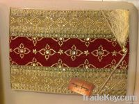 TABLE RUNNER FOR 6 HANDMADE EMBROIDERED SEQUENCE BEADED WORK HOME TEXT
