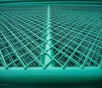 green expanded wire mesh fence