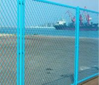 protecting expanded metal fence