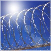 Hot dipped razor barbed wire mesh
