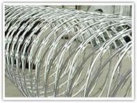 Electro galvanized razor barbed wire mesh