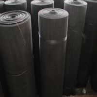 (60mesh/0.6mm) High Quality Low Carbon Steel Black Wire Cloth Factory