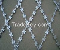 Hot sales galvanized cheap razor barbed wire