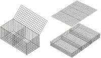 Hexagonal Wire Mesh Gabion Box Cage