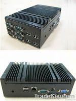 GS-D510T4 Fanless Box PC(4Coms/6USBs/Mini-PCIe)