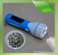 10 Hours Lighting Camping Solar LED Torch Flashlight