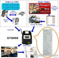 GPRS GSM SMS Printer GT5000S for restaurant take away service