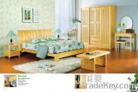 Pine furniture bedroom set bed wardrobe solid wood OEM