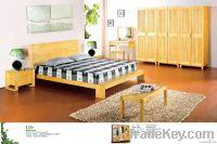 Pine furniture bedroom set bed wardrobe solid wood OEM