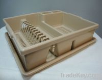 Plastic Dish Rack With Tray