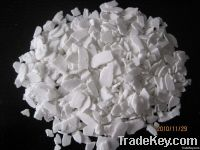 white flake calcium chloride 74%