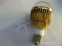 NEW design Energy Saving led bulb 5*1w (aluminum and PVC)
