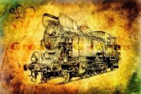 Train Wall Art Canvas Prints