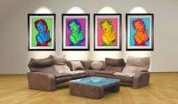 Marilyn Monroe Pop Art Canvas Prints