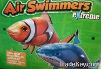 2011 novel and original inflatable air swimmers flying fish